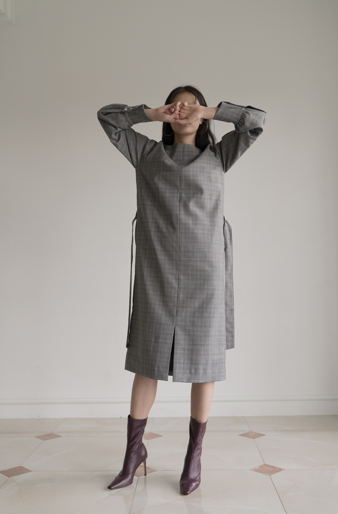 [15% 가을세일] BOY DRESS _ GREY CHECK