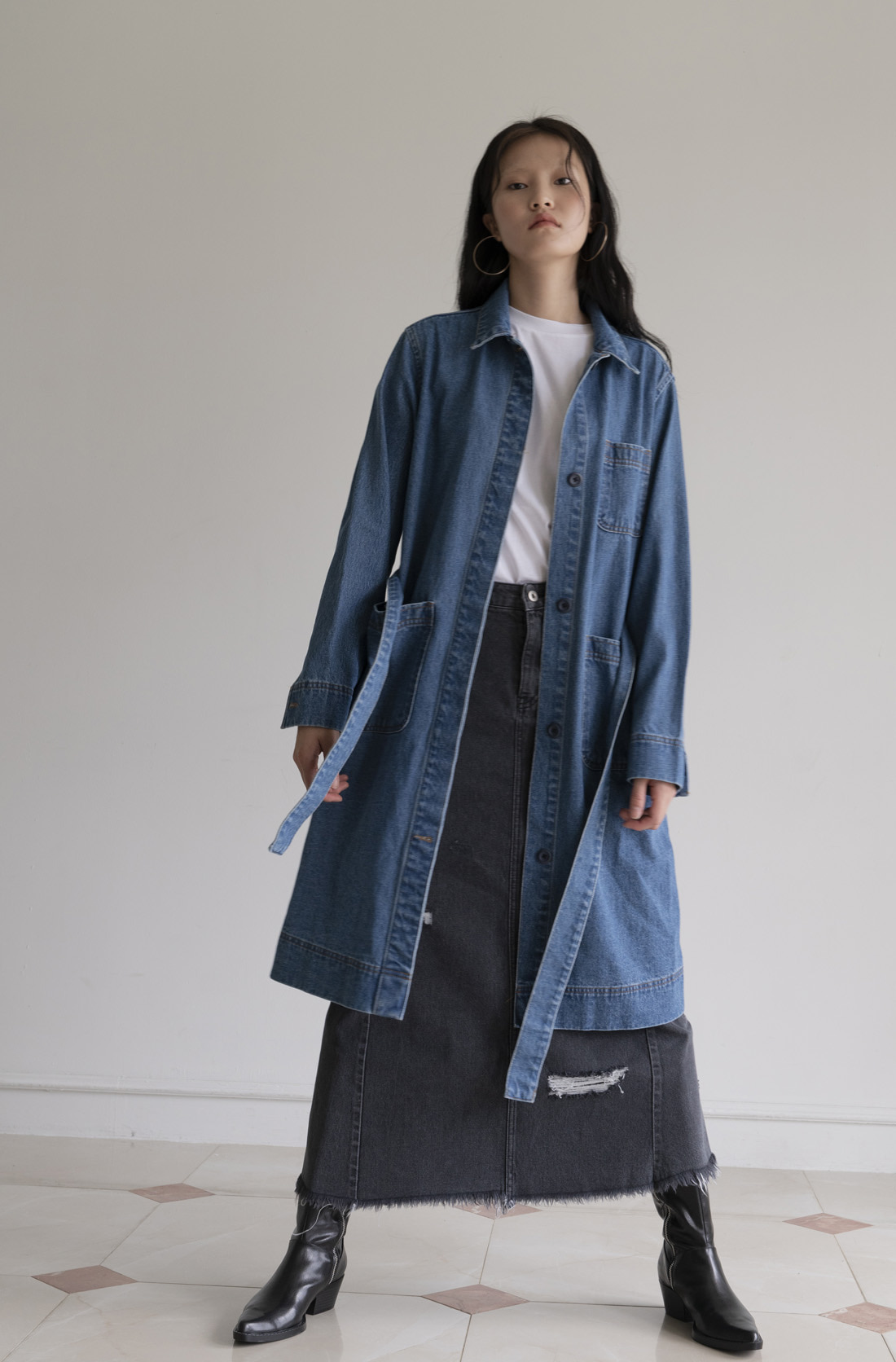 [20% 가을세일] DENIM TRENCH