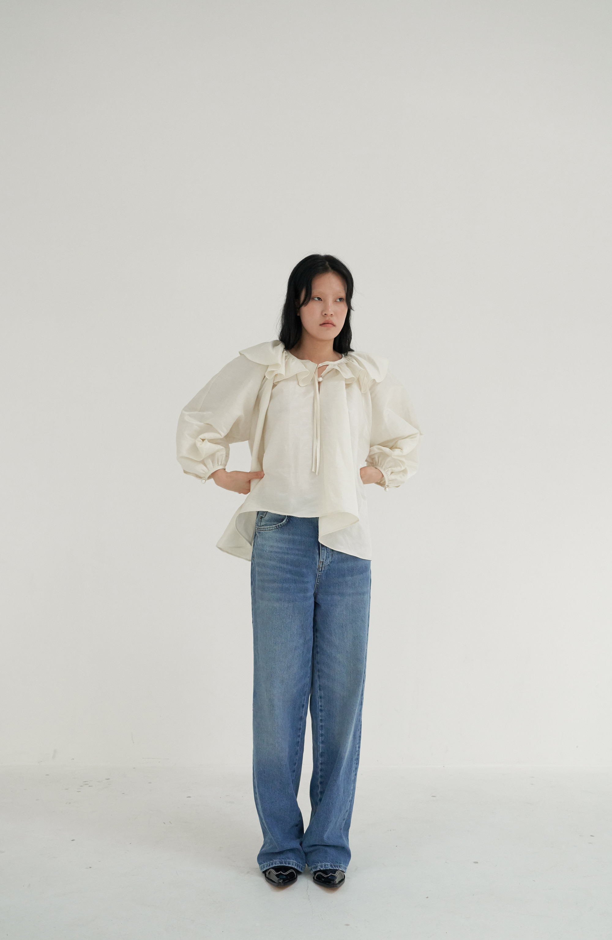[20 SUMMER] FRILL SHIRRING BLOUSE