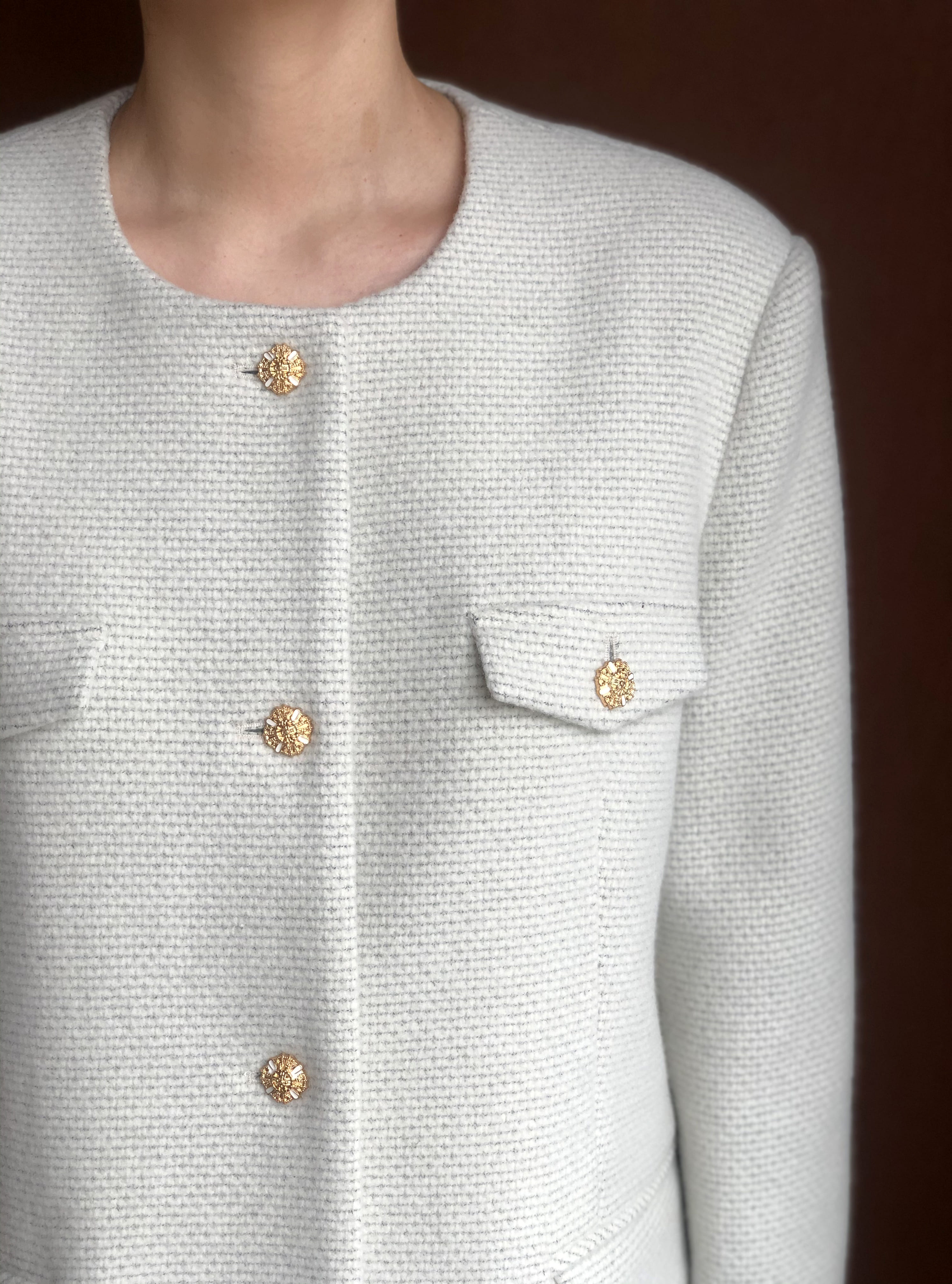 ROUND BOY JACKET in cream