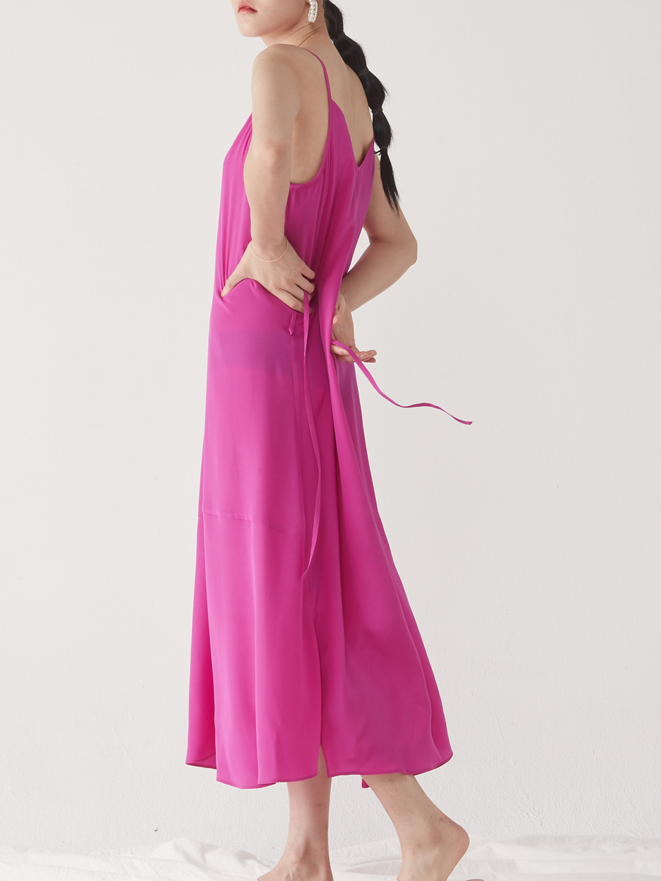 [10% SALE] SILK SLIP DRESS _ PINK