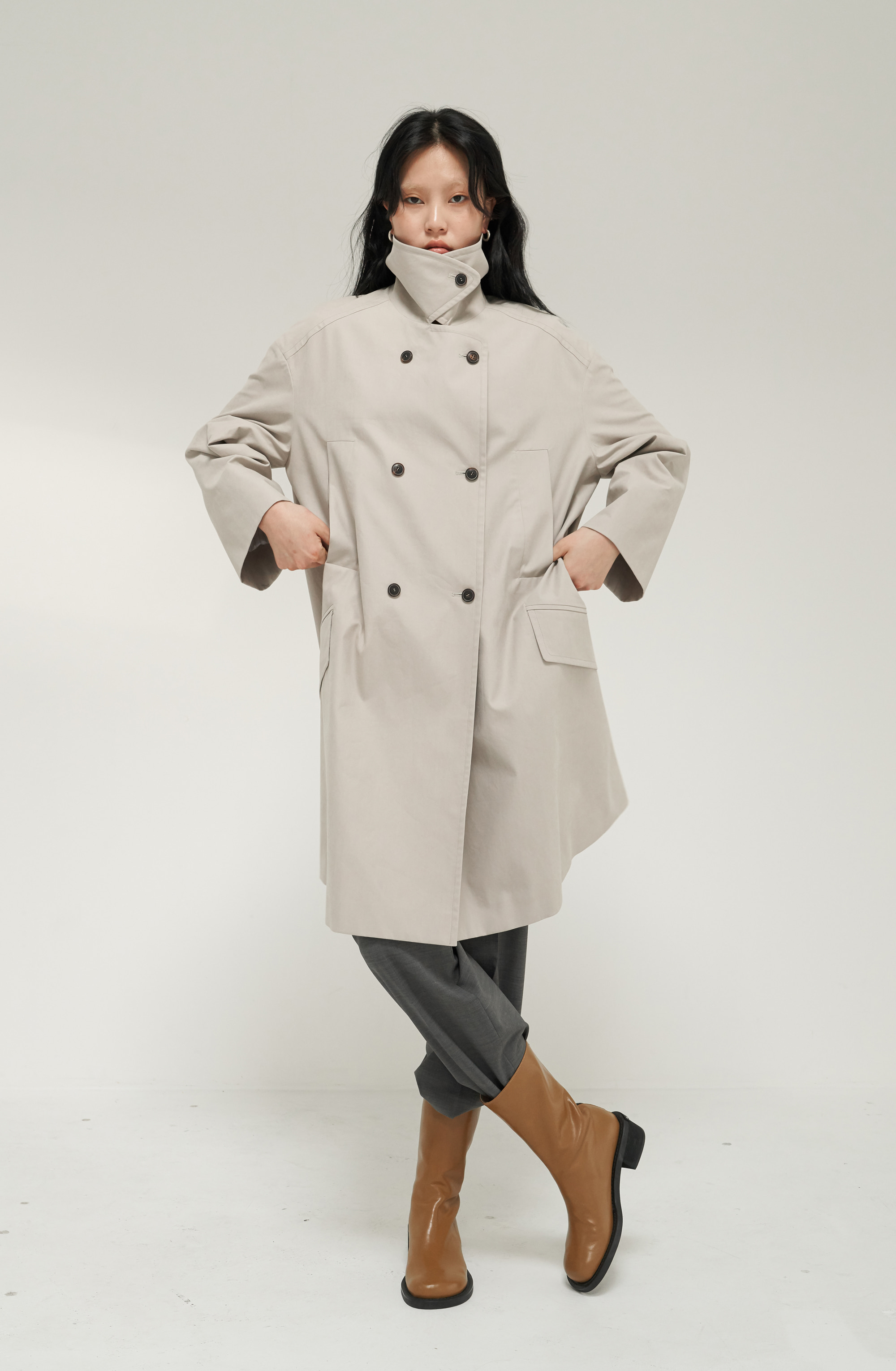 BELLE TRENCH _ GRAY BEIGE