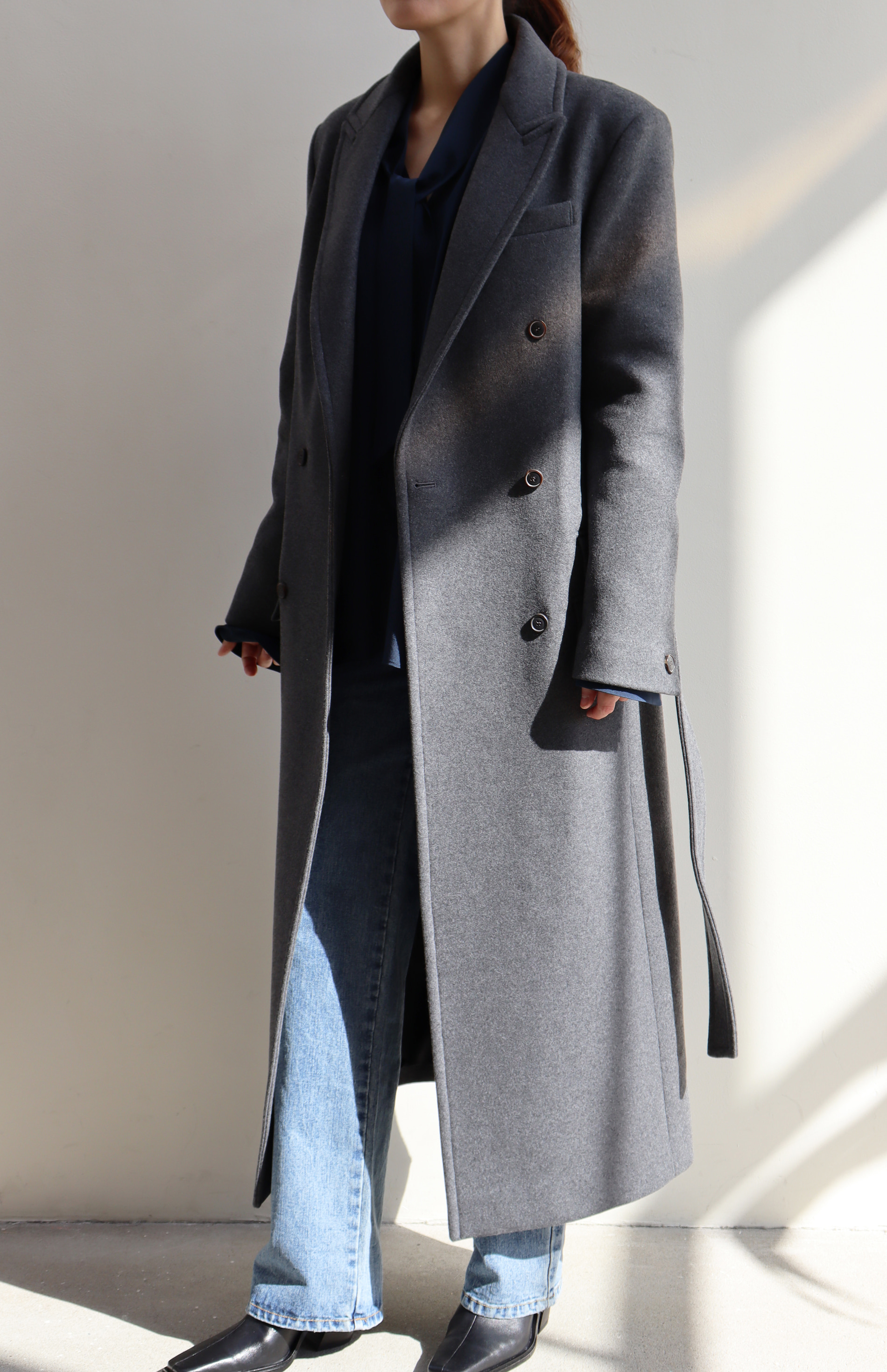 [BF EXTRA 15% OFF] LONG DOUBLE COAT _ GREY