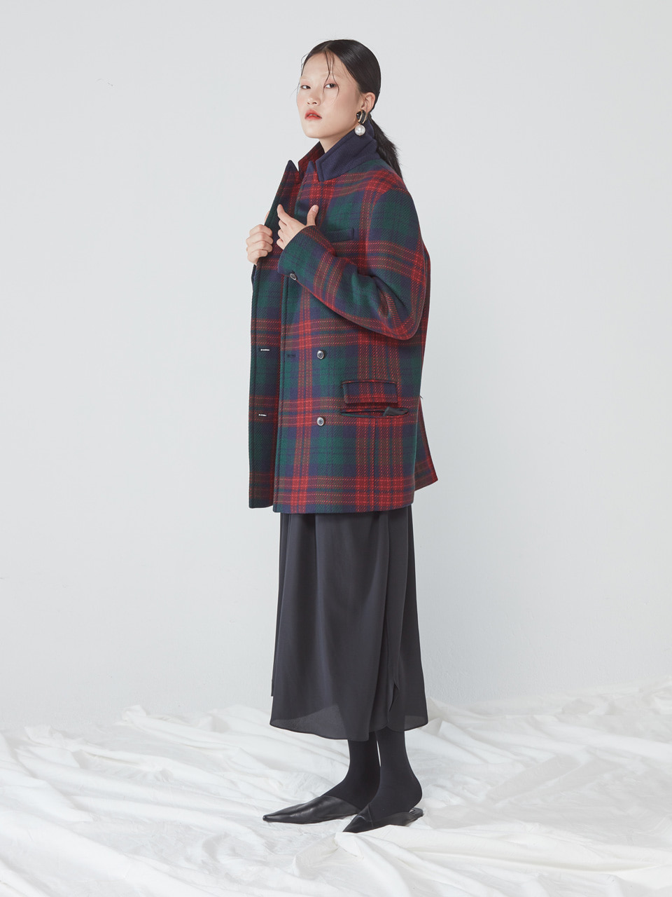 [WINTER SALE 10%] BOY DOUBLE COAT _ RED CHECK