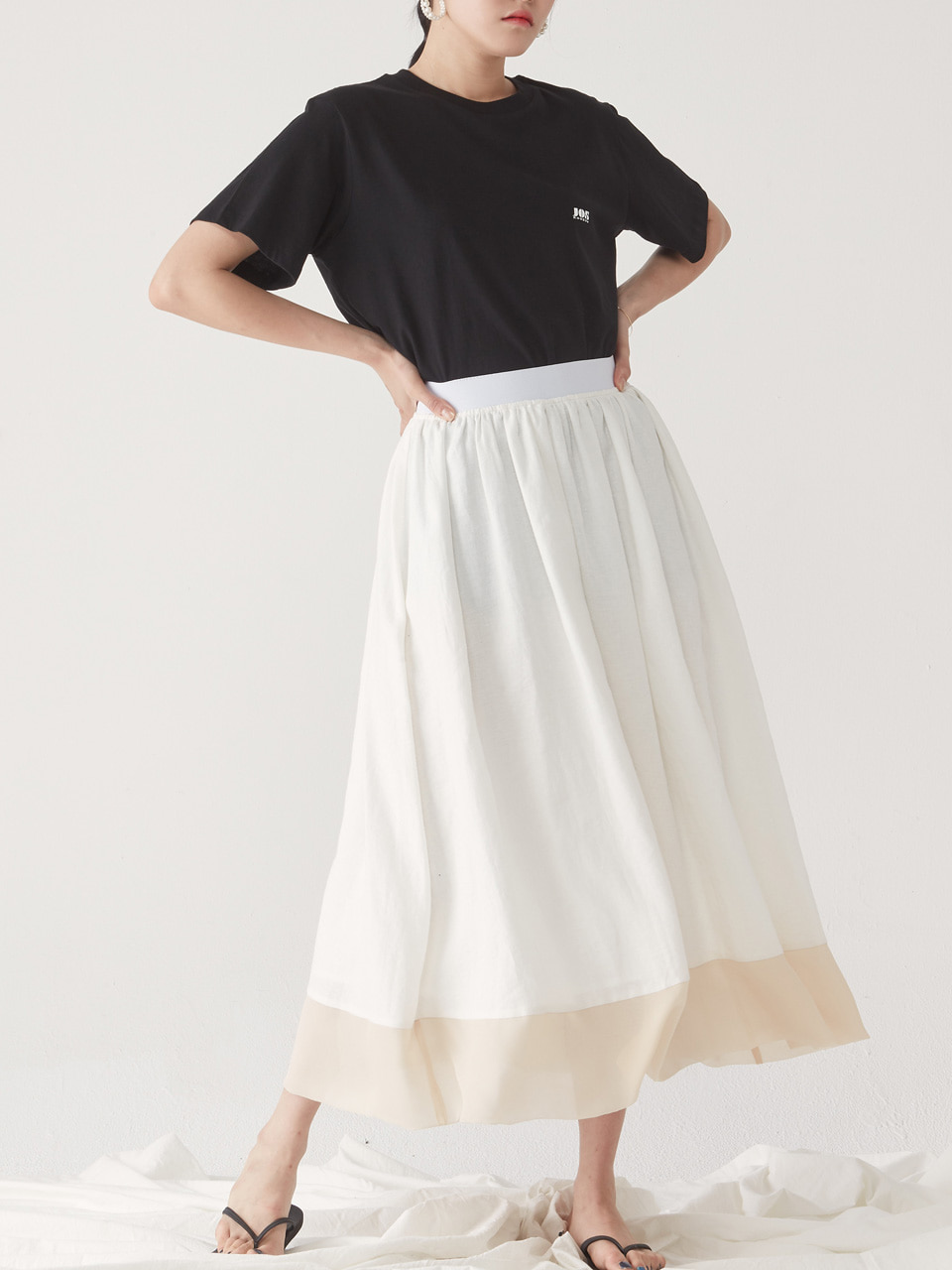 [15% SALE] SUMMER FULL SKIRT_ WHITE