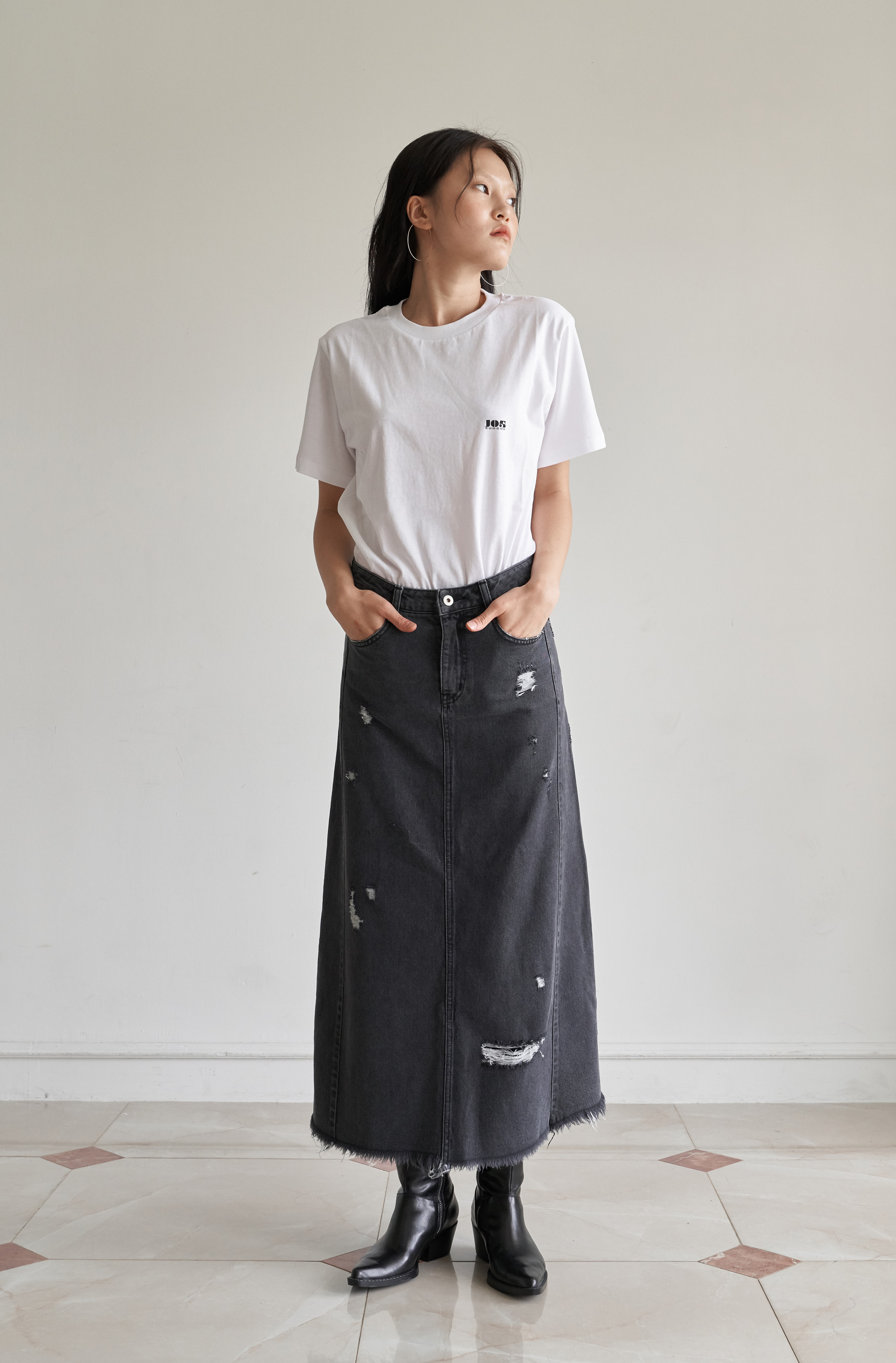 [20% 가을세일] DENIM LONG SKIRT