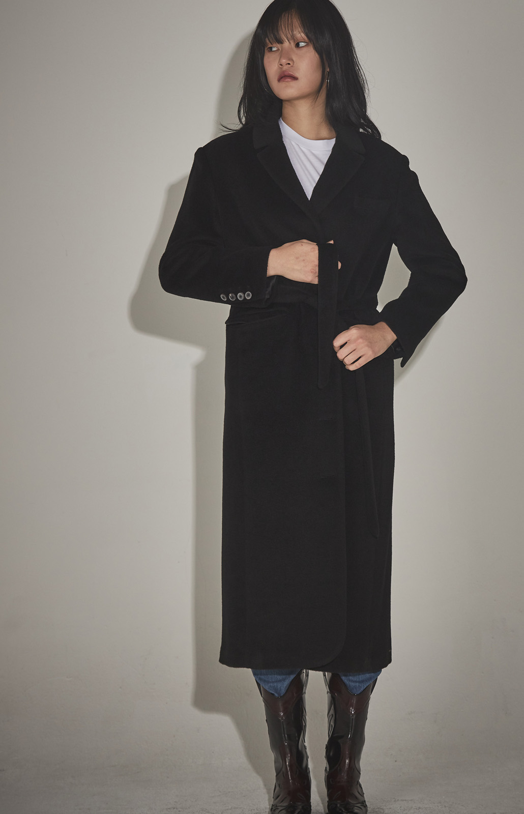 15% SALE [19윈터 특가상품] BOY LONG COAT ( BLACK/NAVY)