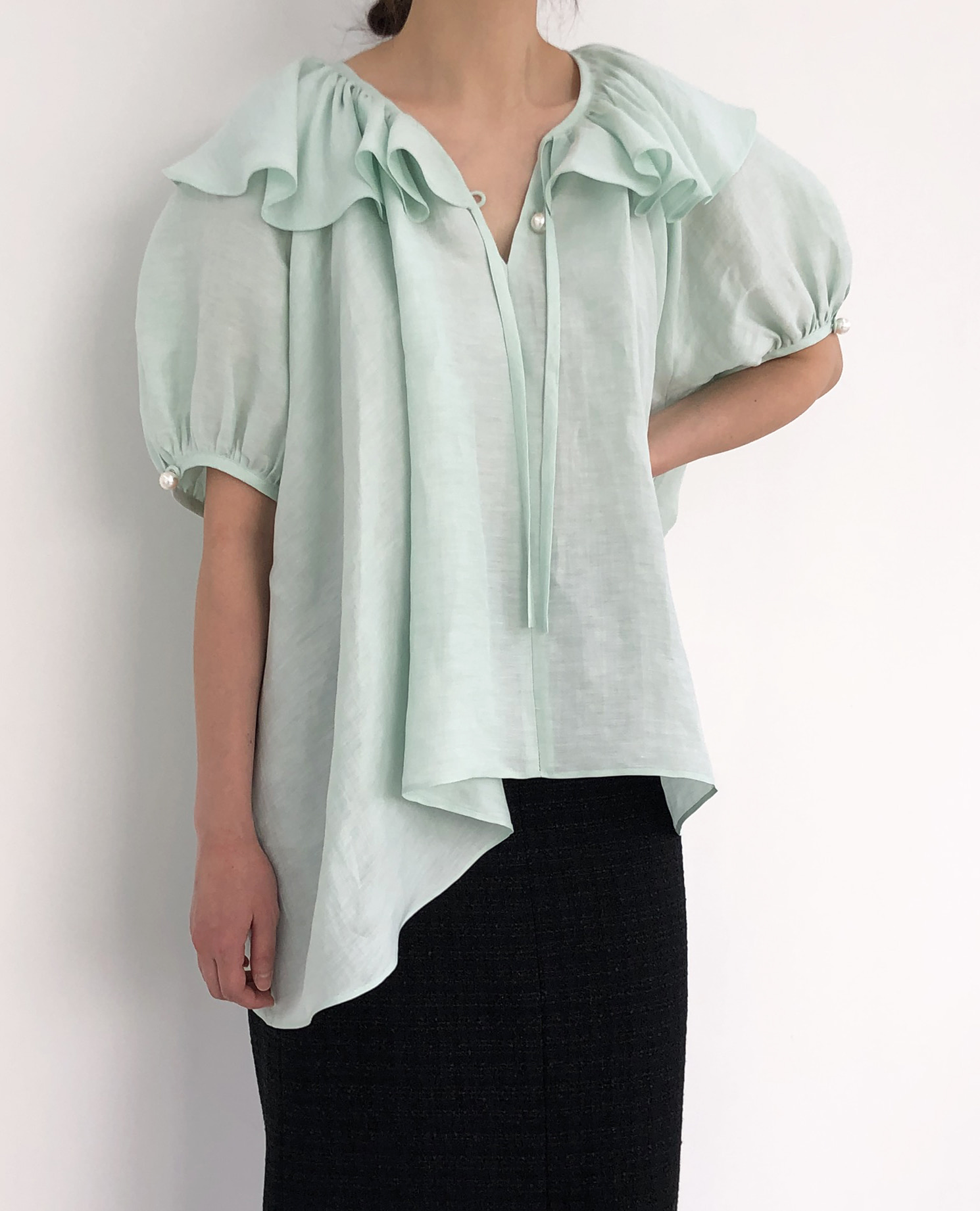 [SUMMER SALE 15%] SUMMER FRILL BLOUSE