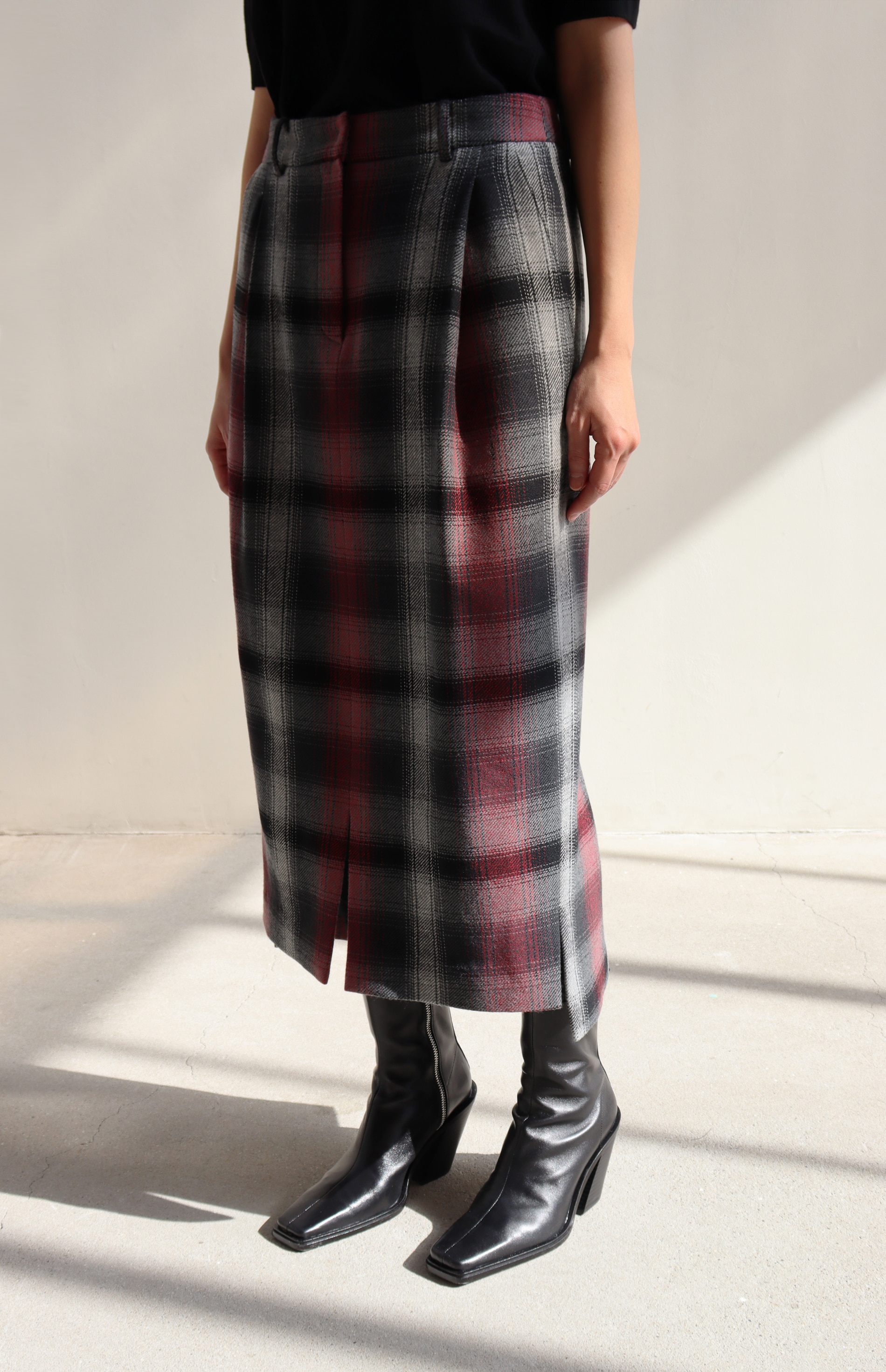 [BF EXTRA 15% OFF] WOOL MIDI SKIRT
